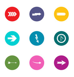Translation of shooter icons set flat style vector
