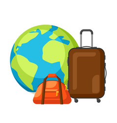 Travel concept traveling background vector