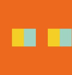 tropical color block seamless stripe border vector image