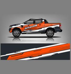 Truck wrap design wrap sticker and decal design vector