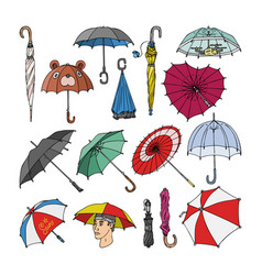 umbrella umbrella-shaped rainy protection vector image
