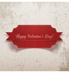 Valentines Day realistic red Label vector