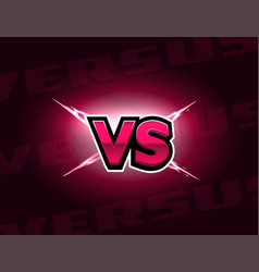 vs letters on lightning background versus logo vector image