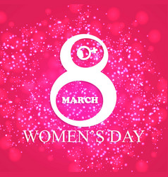 womens day typographic card with elegent design vector image