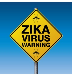Yellow Road Sign Zika Warning vector