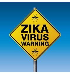 Yellow road sign zika warning vector