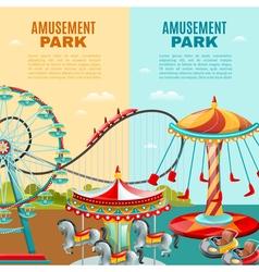Amusement Park Vertical Banners vector image vector image