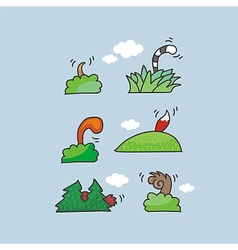 Animal Tails Set vector image
