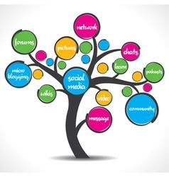 colorful social media tree stock vector image
