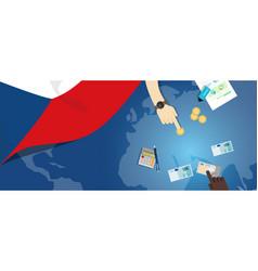 Czech republic economy fiscal money trade concept vector
