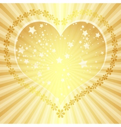 Golden valentine frame vector image