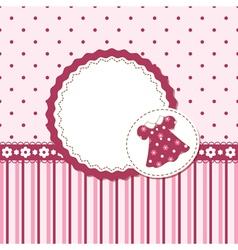 Baby girl background vector image vector image