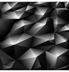 Black polygonal abstract background vector image