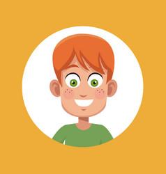 boy kid male character image vector image