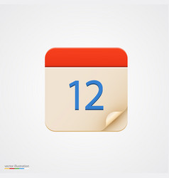calendar icon on bright background vector image