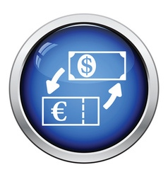 Currency dollar and euro exchange icon vector image vector image