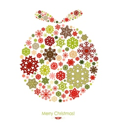 Merry Christmas card with Christmas ball vector image vector image