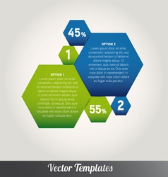 Option tabs Template vector image