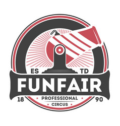 professional funfair show vintage isolated label vector image