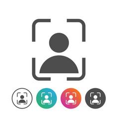 simple portrait icon symbol design set vector image