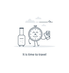 Travel advertising concept vector