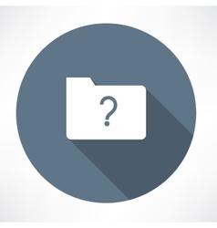 unknown folder icon vector image vector image