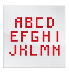 Red Alphabet Part One vector image