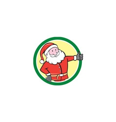 Santa claus father christmas thumbs up circle vector