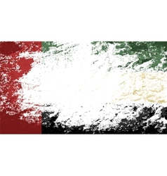 United Arab Emirates flag Grunge background vector image vector image