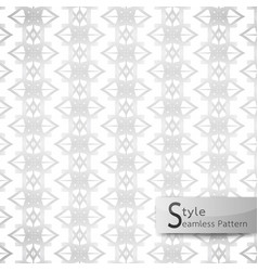 Abstract seamless pattern floral mesh white vector