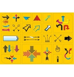 Set of arrows and pointers vector image vector image