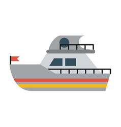 ship sideview with flag icon image vector image vector image