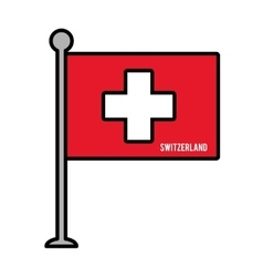 switzerland patriotic flag isolated icon vector image