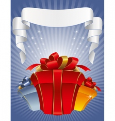 three gift boxes vector image