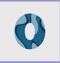 0 water font template design vector