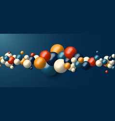 3d realistic many geometric spheres dynamic vector image