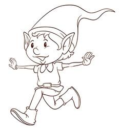 A plain drawing an elf vector