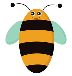 A smiling oval shaped bee or color vector