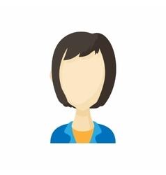Avatar kare haircut woman icon cartoon style vector image vector image