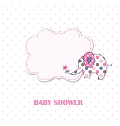 Baby shower with cute elephant vector