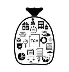 bag with tax idea concept vector image