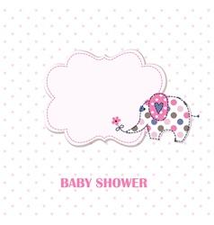 Bashower with cute elephant vector