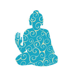 buddha pattern silhouette traditional religion vector image