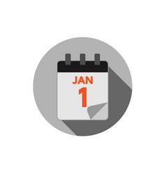 calendar logo icon design template vector image