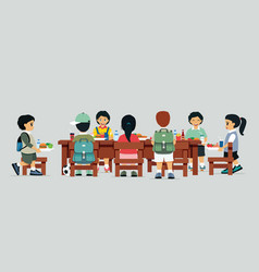Canteen table vector