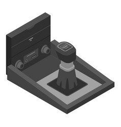 Car manual gearbox icon isometric style vector