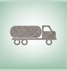 Car transports sign brown flax icon on vector