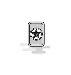 card game web icon flat line filled gray icon vector image