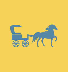 Carriage with horse vector