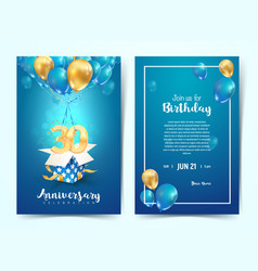 celebration 30 th years birthday vector image